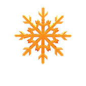 3d christmas snowflake — Стоковое фото