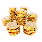 Coins isolated on a white — Stock Photo
