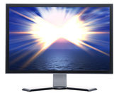 Monitor with solar sky — Stock Photo
