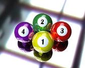 Bola de bilhar pool 4 — Fotografia Stock
