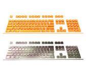 2 空のキーボード — ストック写真