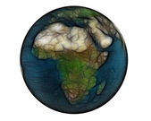 Blurred 3D world Africa — Stock Photo
