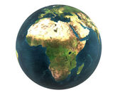 3D world Africa isolated — Stock Photo