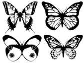 Яркая бабочка металлический, изолированные на белом — Стоковое фото
