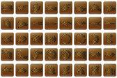 Golden stripe web buttons arrows — Stock Photo