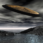 3d UFO space ship — Stock Photo