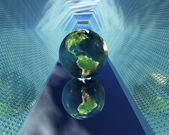 3D globe at new way — Stock Photo