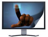 Monitor with metal screen — Fotografia Stock