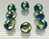 3d models of the earth — Stock Photo