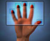 アクセスを取得する前にスキャンした dactylogram — ストック写真