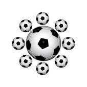 Palloni da calcio — Foto Stock