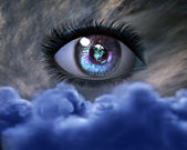 Beautiful 3D girl eye — Stock Photo