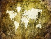 Old world map on retro paper — Stockfoto