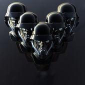 Cyborg head — Stock Photo