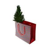 Julklappar och presenter låda isolerad på en vit bakgrund — Stockfoto