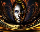 странные металла 3d девушка — Стоковое фото