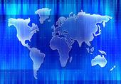 World map silhouette — Stock Photo