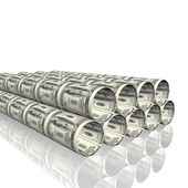 Bright metal tubes — Stock Photo