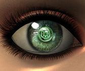 Beautiful girl eye — Stock Photo