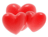 Rosso amore cuori — Foto Stock
