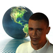 Barack Obama 3d model — Stock Photo
