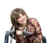 Dziewczyna z brzana — Zdjęcie stockowe