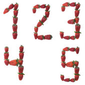 Fresh and tasty strawberry digit — Stock Photo