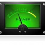 Green Power Meter — Stock Vector