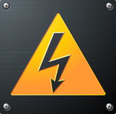 High Voltage Sign — Stockvector
