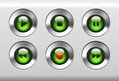 Green Buttons — Stock Vector