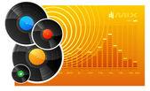 Vinyl disks — Stock Vector