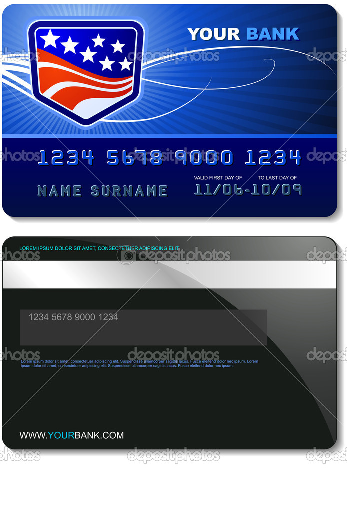 A credit card from the front and back — Stock Vector #1161182