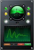 Green Sine Curve — Stock Vector