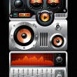Royalty-Free Stock Vector Image: Red Analog media player or Radio