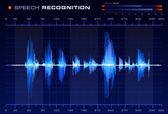 Signál rozpoznávání řeči — Stock vektor