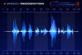 Speech recognition signal — Stock vektor