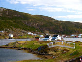 Newfoundland village — Stock Photo