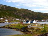 Newfoundland village — Stock Photo