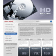 Hard Disk promotional brochure — Stockvektor