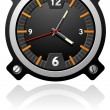 Watch with black dial — Imagen vectorial
