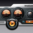Analog radio or media player — Image vectorielle