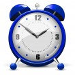 Blue alarm clock - Stock Vector