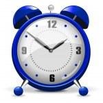 Синий будильник — Cтоковый вектор