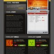 Music Radio web design template — Vecteur #1197597