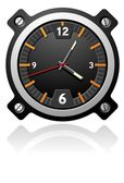 Watch with black dial — Stock Vector