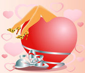 Alla hjärtans-kort — Stockvektor