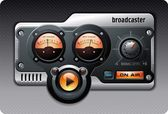 Analogico radio o media player — Vettoriale Stock