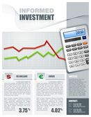 Financial Investment Brochure — Stock Vector