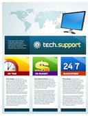 Tech support brochure cover — Stock Vector