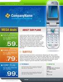 Telecom brochure cover — Stock Vector